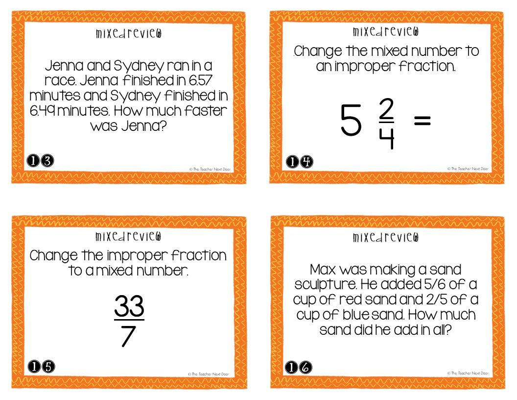 hight resolution of 5th Grade Mixed Review Task Cards   5th Grade Test Prep Math Center – The  Teacher Next Door