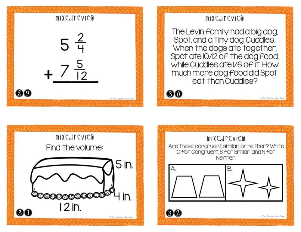 medium resolution of 5th Grade Mixed Review Task Cards   5th Grade Test Prep Math Center – The  Teacher Next Door