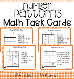 5th Grade Number Patterns Task Cards   Number Patterns Center – The Teacher  Next Door [ 960 x 960 Pixel ]