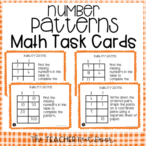 small resolution of 5th Grade Number Patterns Task Cards   Number Patterns Center – The Teacher  Next Door