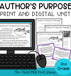 Author's Purpose Print and Digital for 3rd Grade – The Teacher Next Door [ 960 x 960 Pixel ]