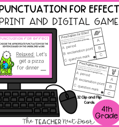 Choose Punctuation for Effect Game Print and Digital – The Teacher Next Door [ 960 x 960 Pixel ]