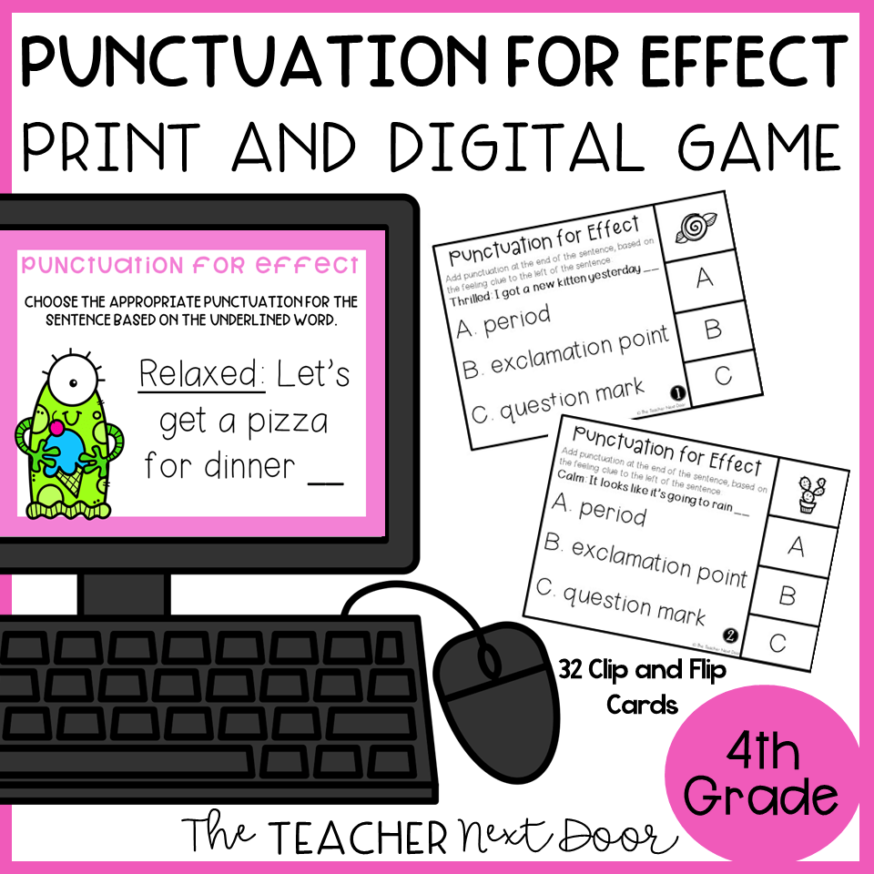 medium resolution of Choose Punctuation for Effect Game Print and Digital – The Teacher Next Door
