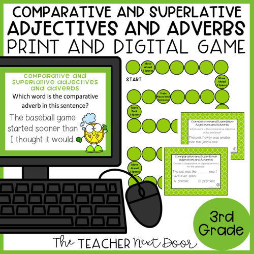 small resolution of Comparative and Superlative Adjectives and Adverbs Game Print and Digital –  The Teacher Next Door