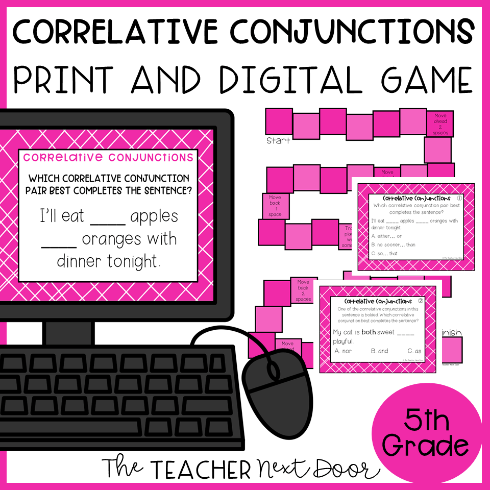 hight resolution of Correlative Conjunctions Game Print and Digital – The Teacher Next Door