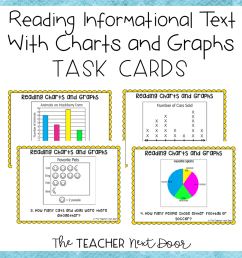 Charts and Graphs Task Cards for 2nd – 5th Grade   Charts and Graphs  Activity – The Teacher Next Door [ 960 x 960 Pixel ]