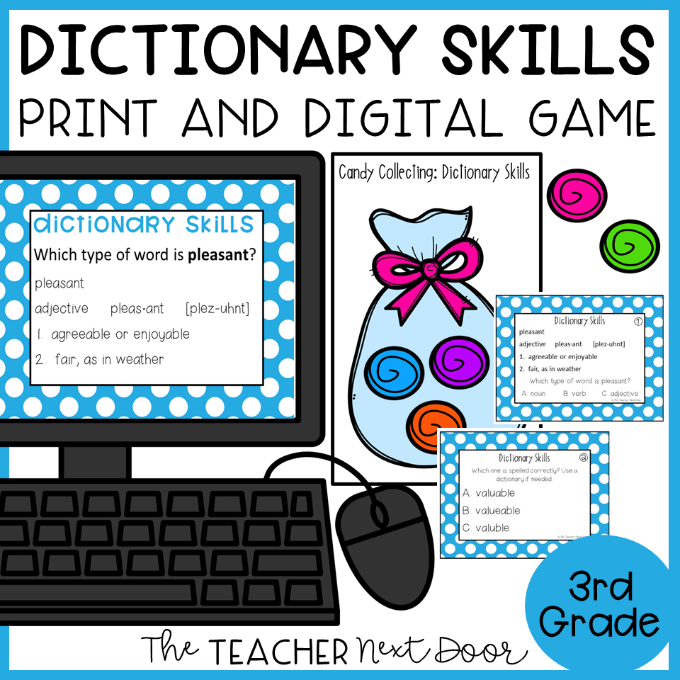 hight resolution of Dictionary Skills Game Print and Digital – The Teacher Next Door