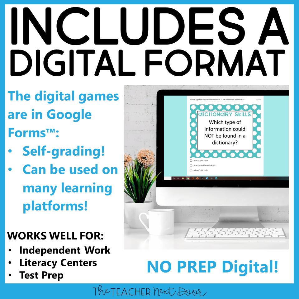 medium resolution of Dictionary Skills Game Print and Digital – The Teacher Next Door
