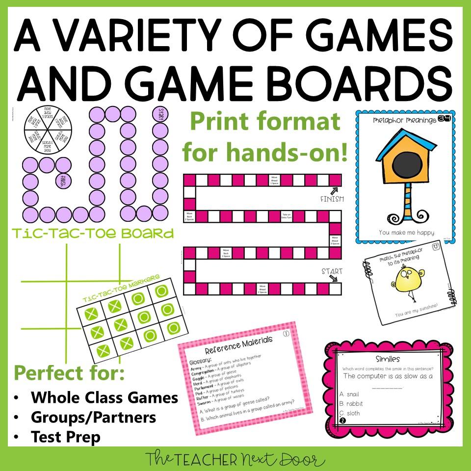 medium resolution of 4th Grade Grammar Games Bundle Set 3 Print and Digital – The Teacher Next  Door