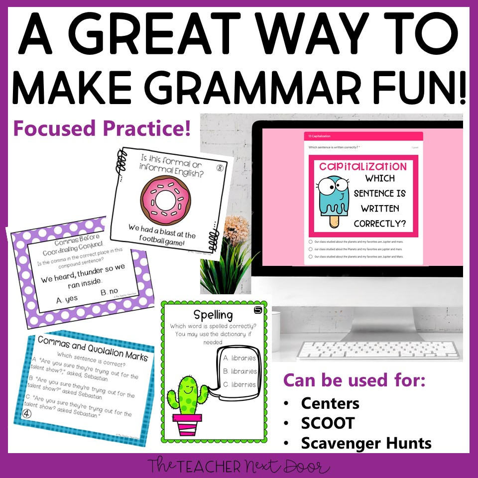 hight resolution of 4th Grade Grammar Games Bundle Set 2 Print and Digital – The Teacher Next  Door