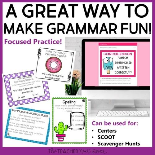 small resolution of 4th Grade Grammar Games Bundle Set 2 Print and Digital – The Teacher Next  Door
