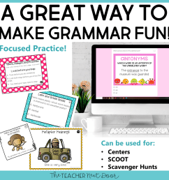 5th Grade Grammar Games Bundle Set 3 Print and Digital – The Teacher Next  Door [ 960 x 960 Pixel ]