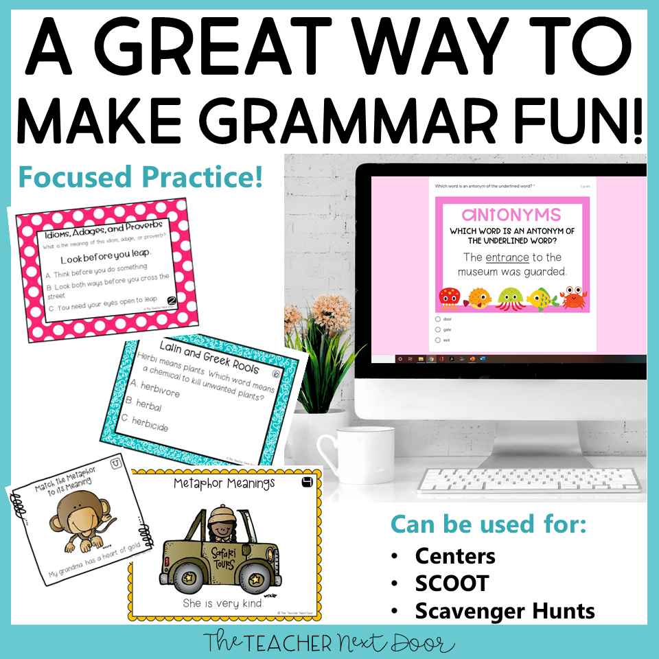 medium resolution of 5th Grade Grammar Games Bundle Set 3 Print and Digital – The Teacher Next  Door