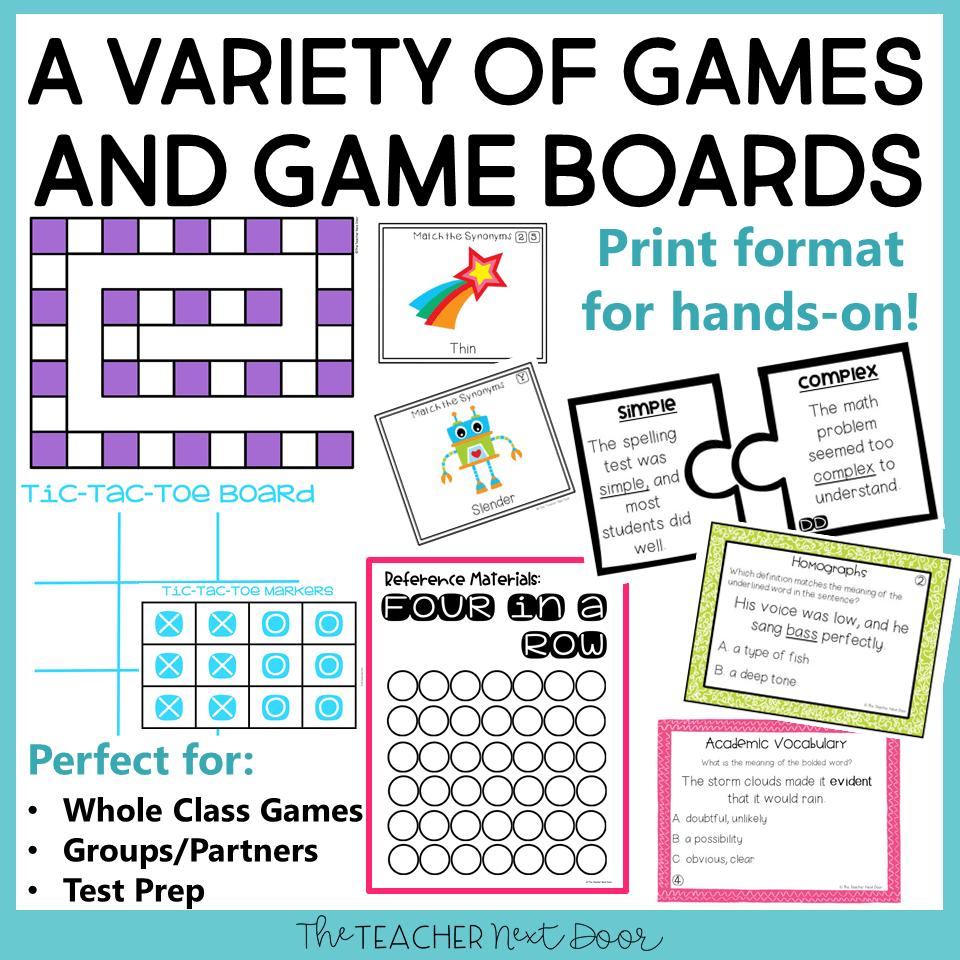 medium resolution of 5th Grade Grammar Games Bundle Set 3 Print and Digital – The Teacher Next  Door