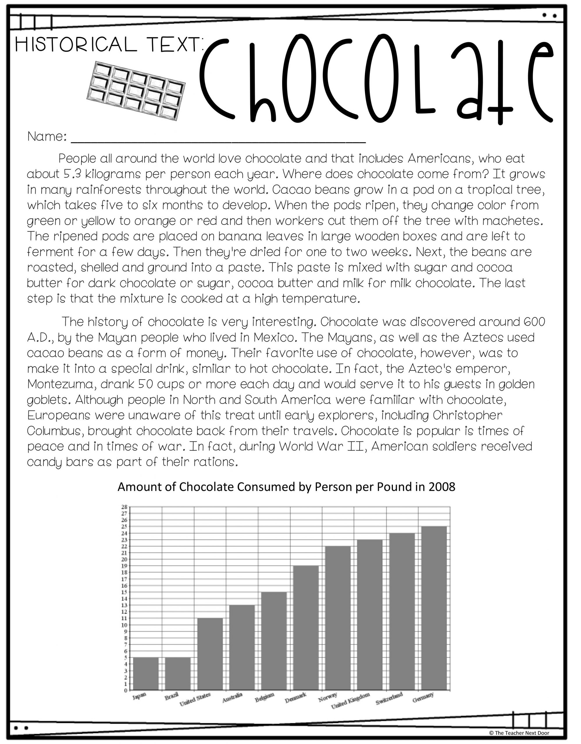 hight resolution of Reading Informational Text with Charts and Graphs for 4th – 5th Grade – The  Teacher Next Door