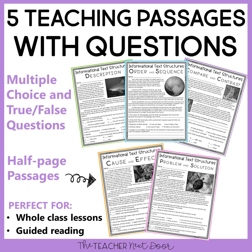medium resolution of Informational Text Structures: Print and Digital for Google Classroom™ –  The Teacher Next Door
