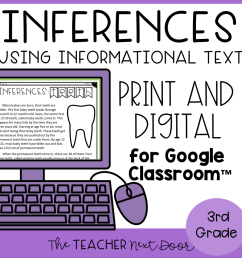 Making Inferences Using Informational Text Print and Digital – The Teacher  Next Door [ 960 x 960 Pixel ]
