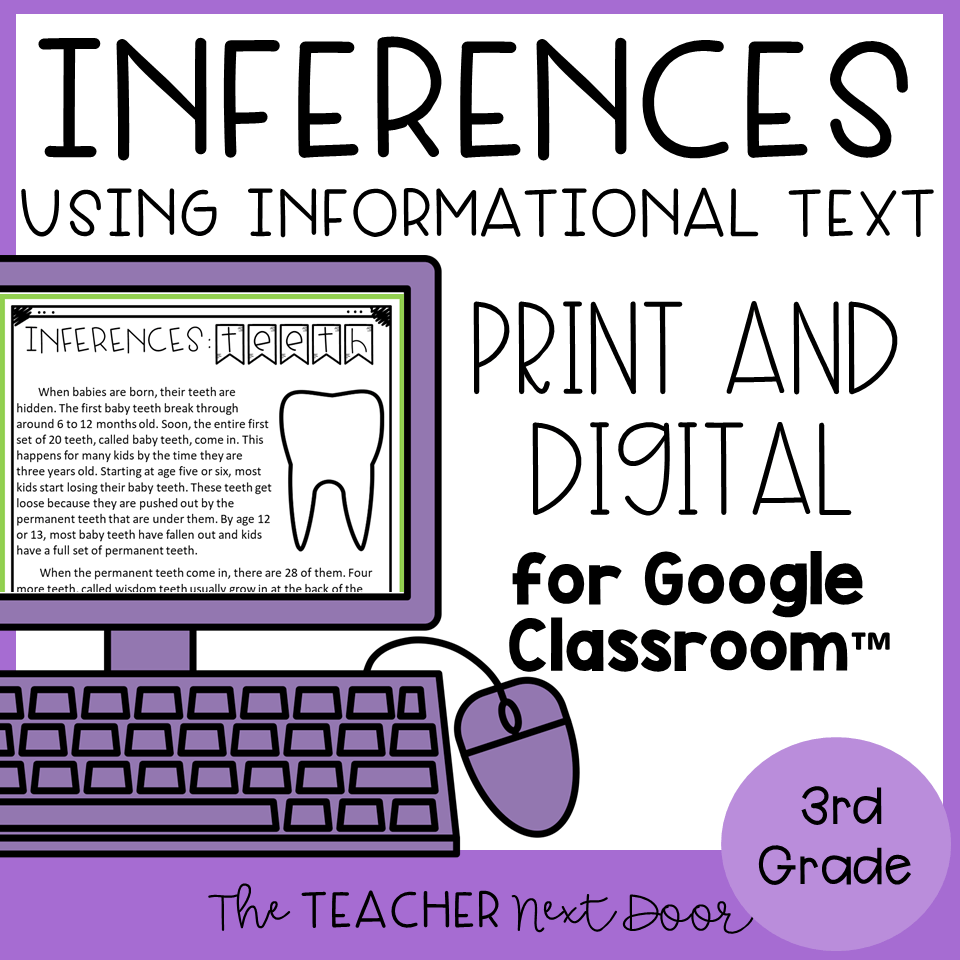 hight resolution of Making Inferences Using Informational Text Print and Digital – The Teacher  Next Door