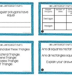 5th Grade Two Dimensional Figures Task Cards   Two Dimensional Center – The  Teacher Next Door [ 816 x 1056 Pixel ]