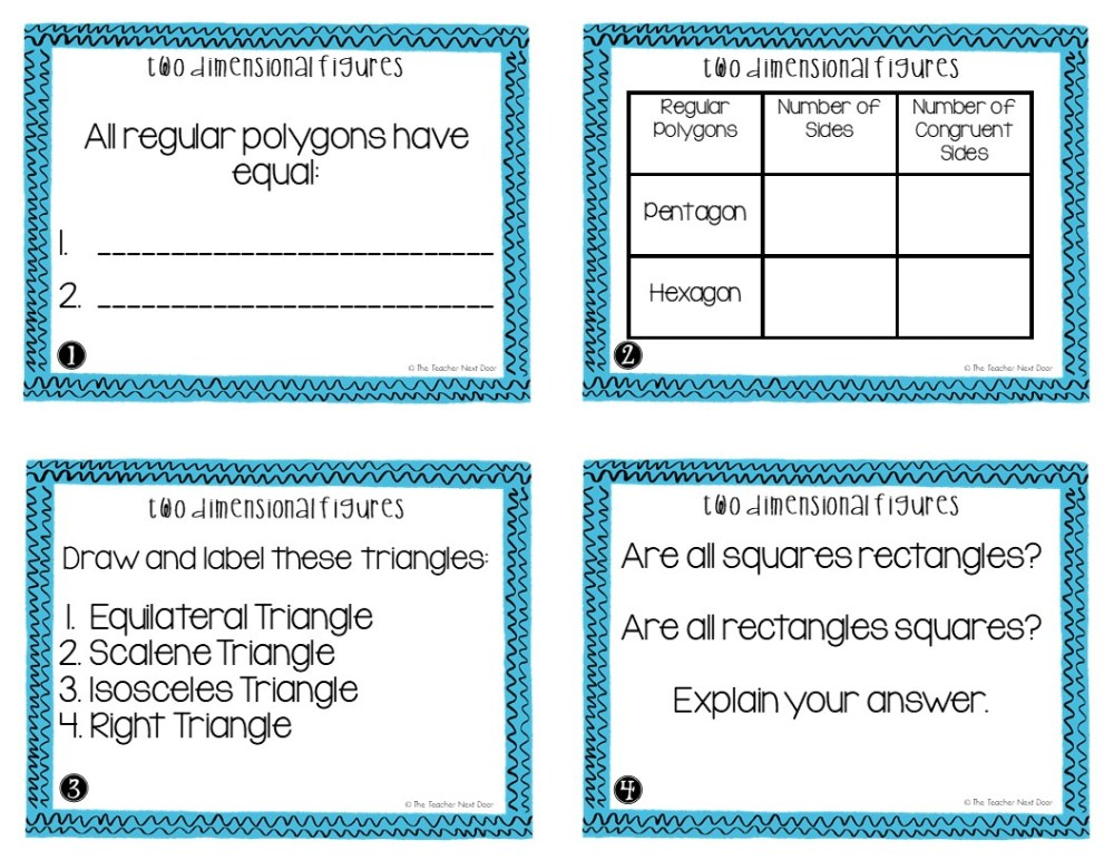 medium resolution of 5th Grade Two Dimensional Figures Task Cards   Two Dimensional Center – The  Teacher Next Door