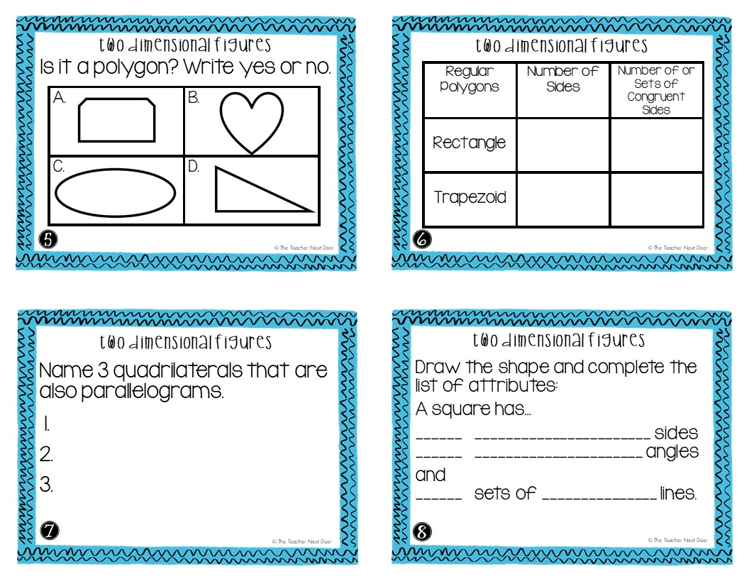 hight resolution of 5th Grade Two Dimensional Figures Task Cards   Two Dimensional Center – The  Teacher Next Door