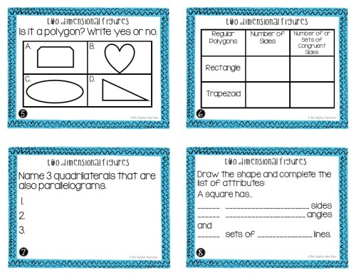 small resolution of 5th Grade Two Dimensional Figures Task Cards   Two Dimensional Center – The  Teacher Next Door