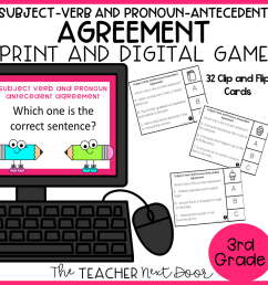 3rd Grade Grammar Games Bundle Set 1 Print and Digital – The Teacher Next  Door [ 960 x 960 Pixel ]