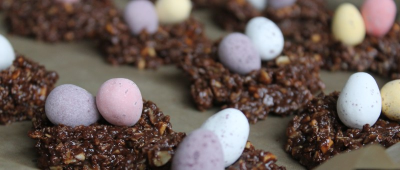 Healthy Easter Chocolate Nests
