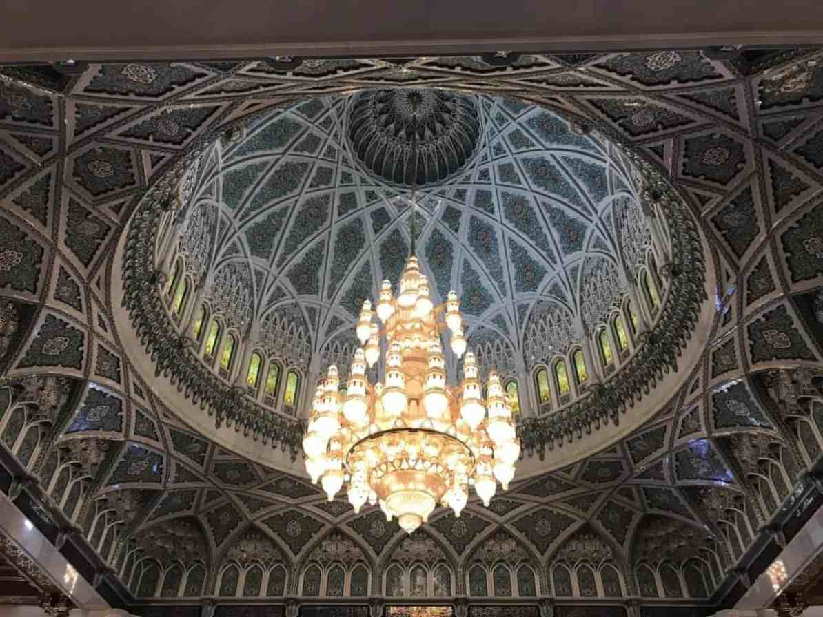 Sultan Qaboos Grand Mosque chandelier - the travelling twins