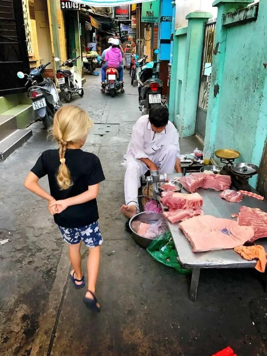 Saigon streets the travelling twins