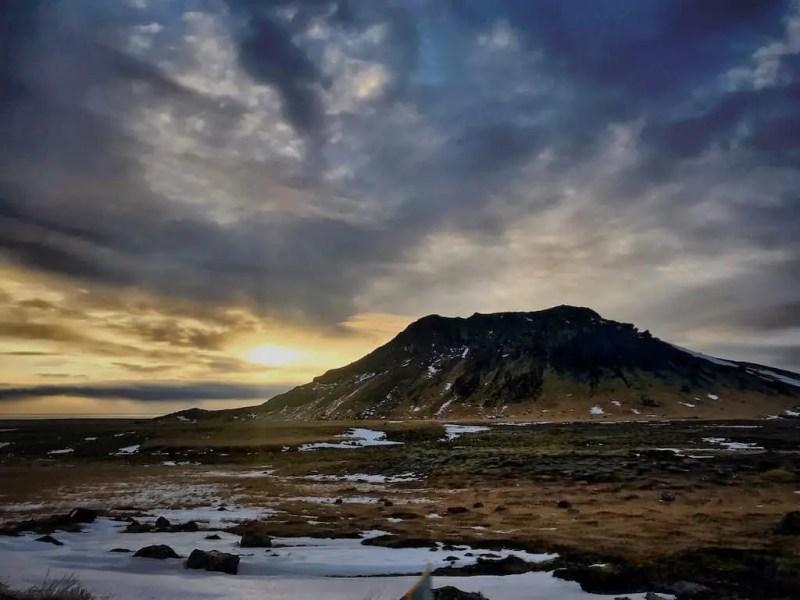 beautiful Iceland in winter