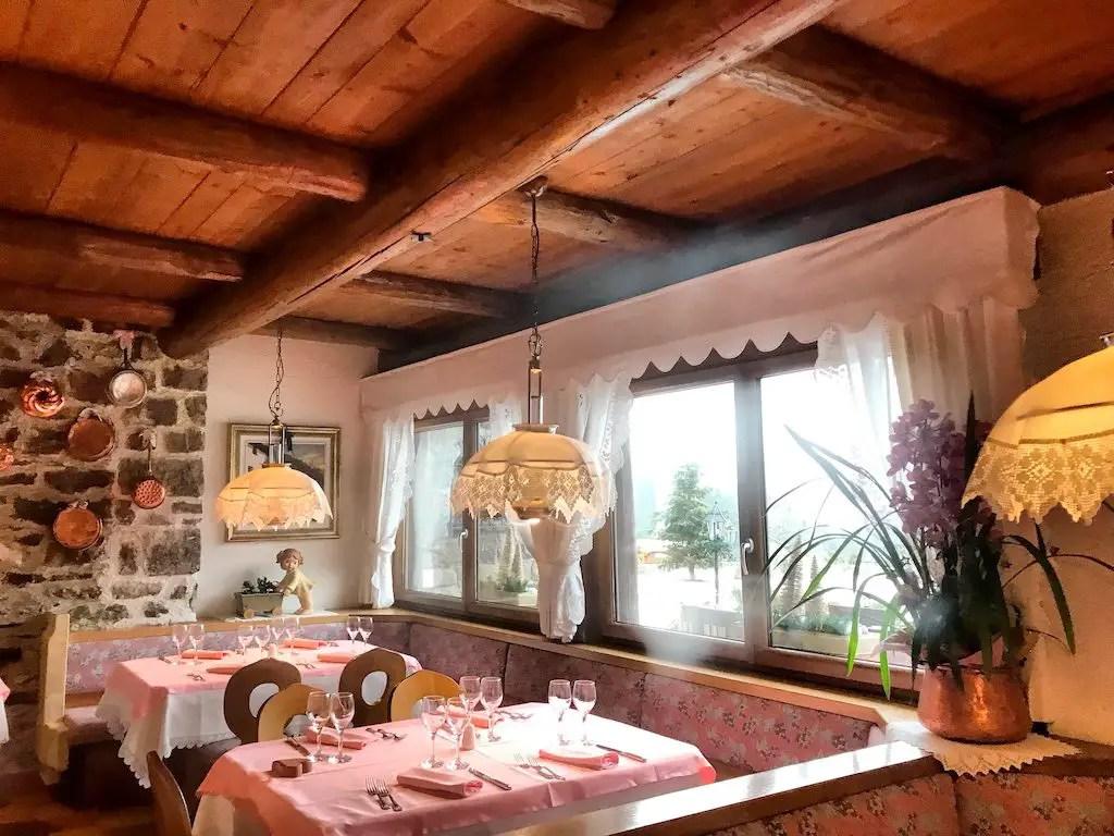 Malga Ces - restaurant next to Ces ski slope