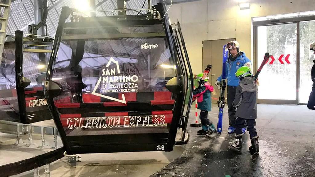 Colbricon Express - winter in San Martino, family winter holiday in San Martino