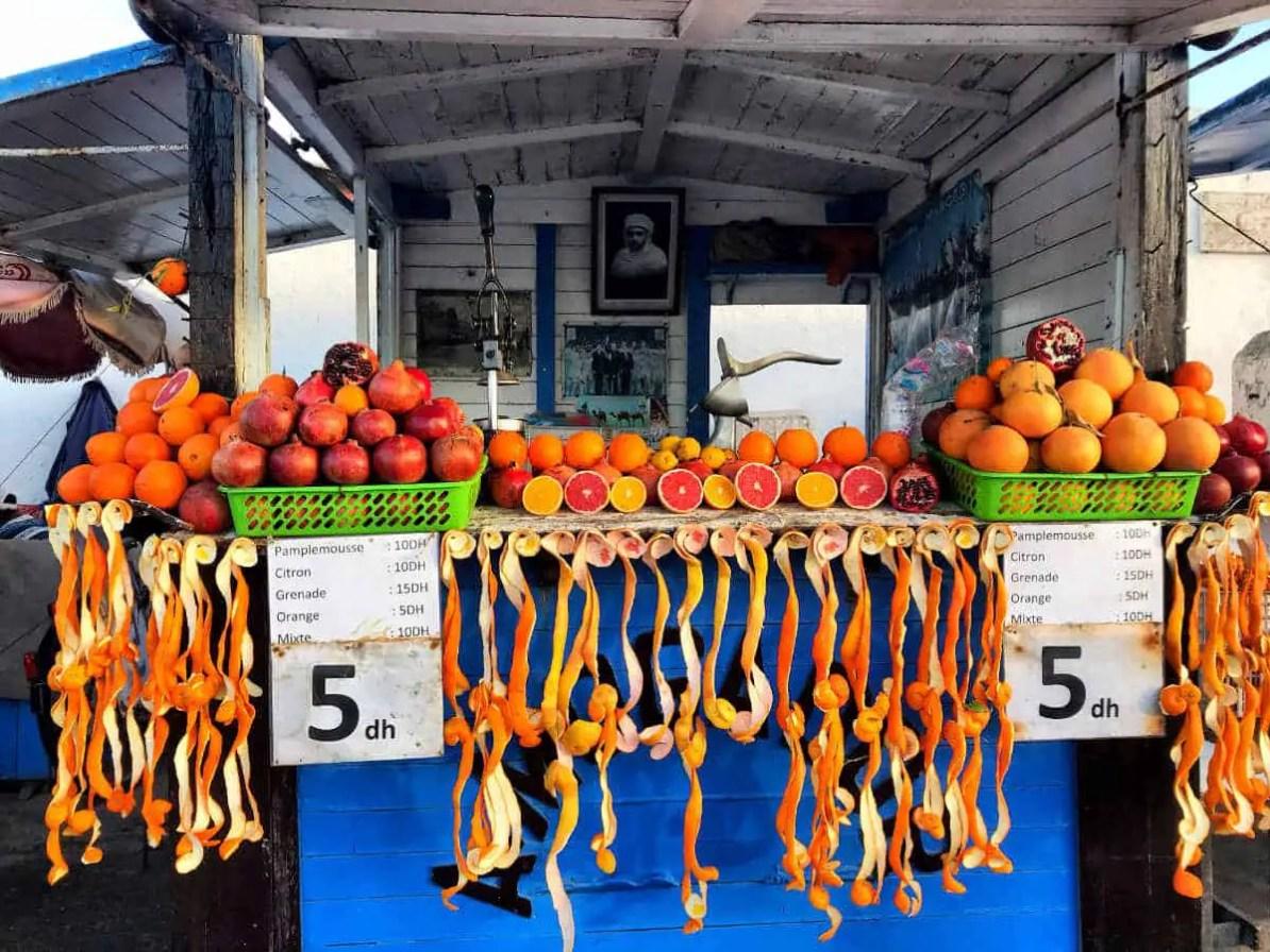 drink orange juice in big quantities,