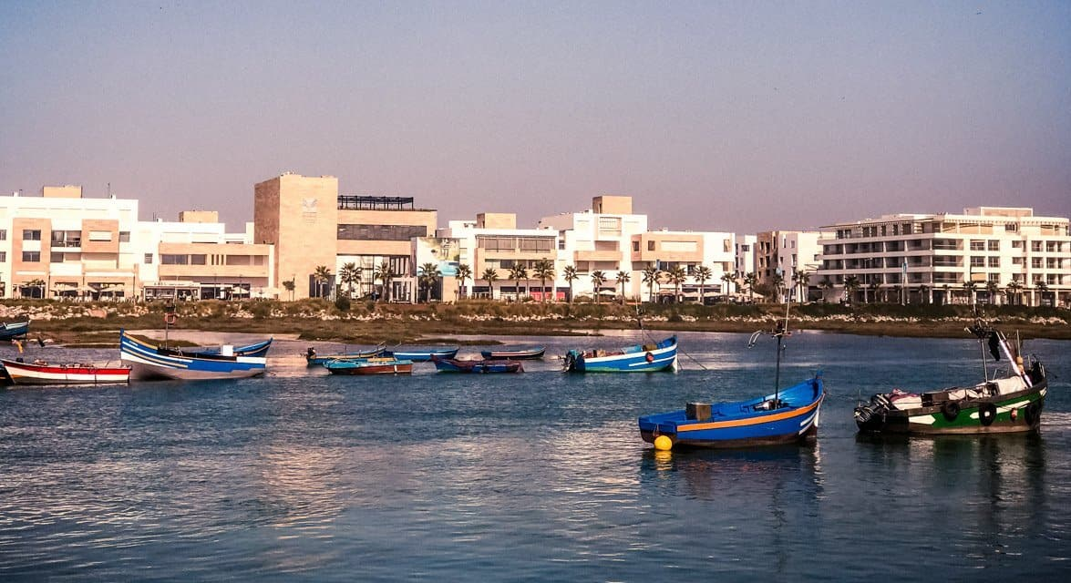 View of Sale from Rabat through Bou Regreg river
