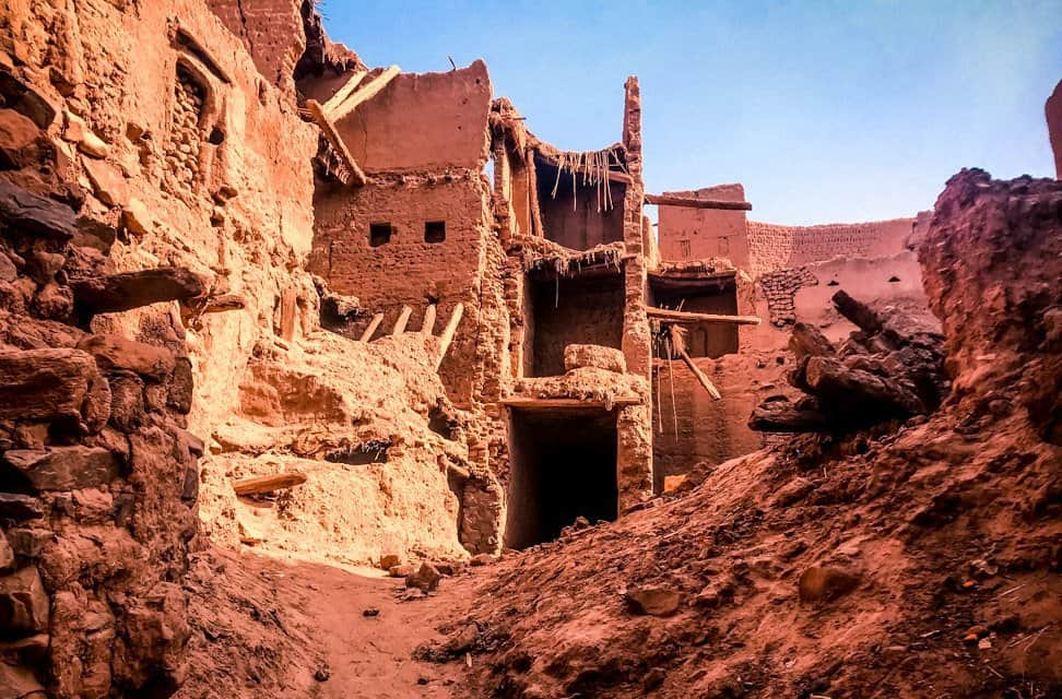 Zagora - old building - typical adobe construction