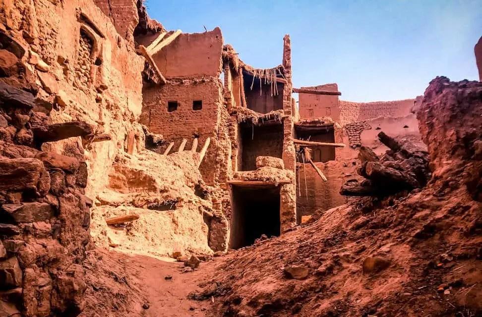 Zagora - old building - typical adobe construction