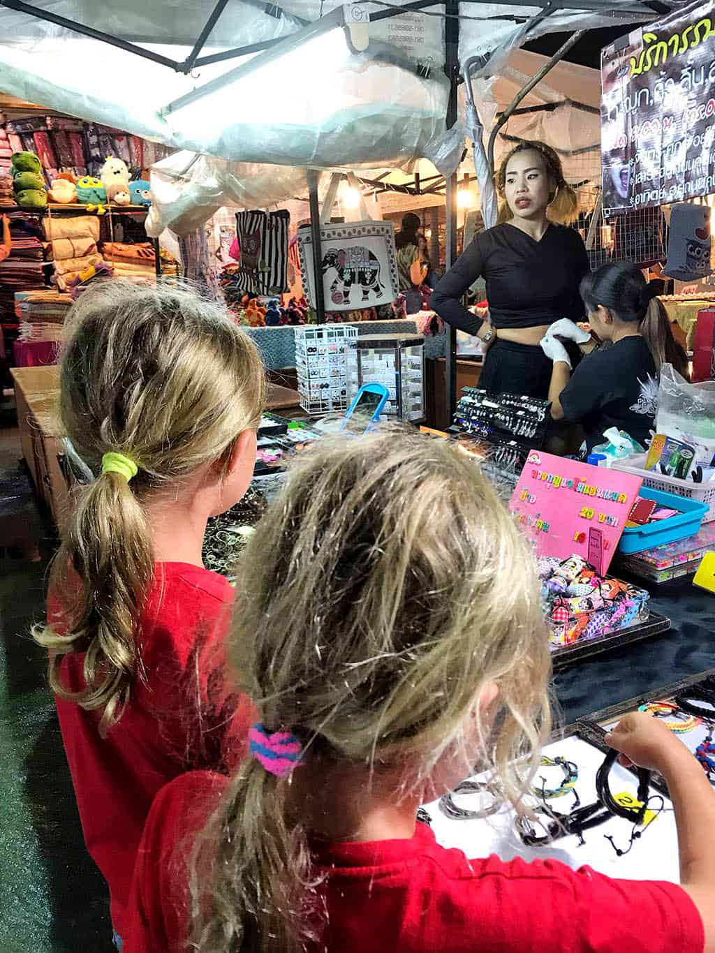 visiting chaing rai night market - one of the things to do in Chaing Rai with kids
