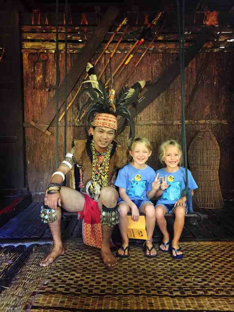 Interesting facts about Borneo - Iban warrior