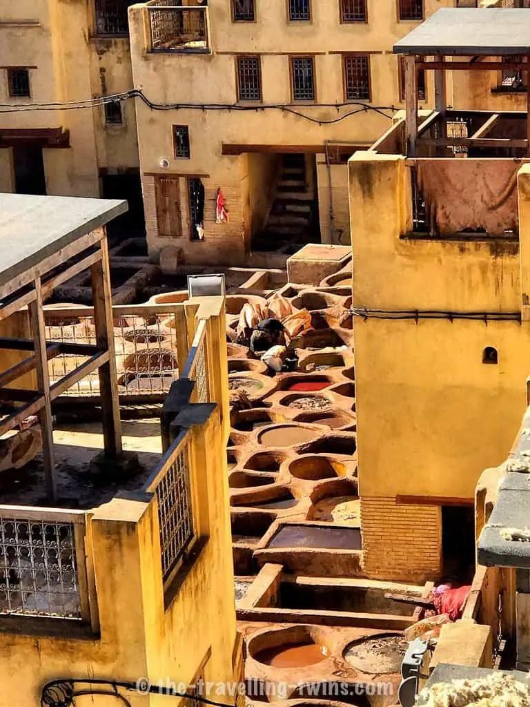 Fez medina in fes city