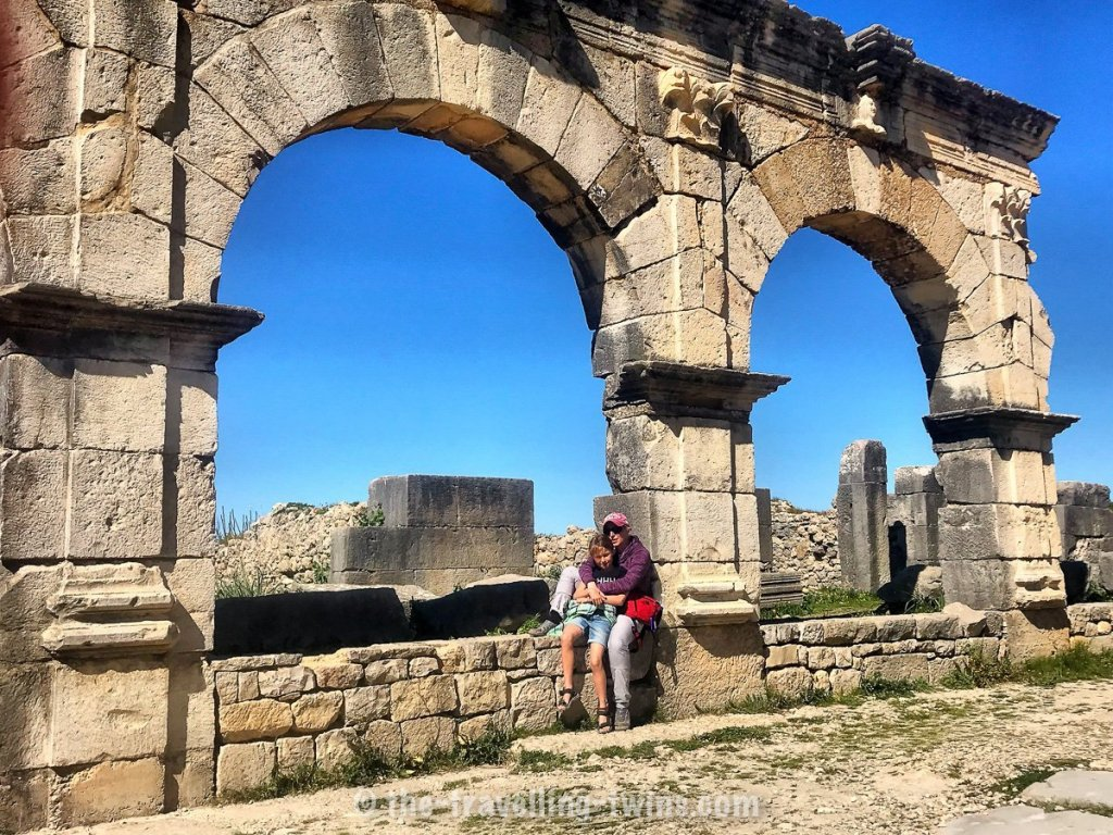 Volubilis old roman town in morocco