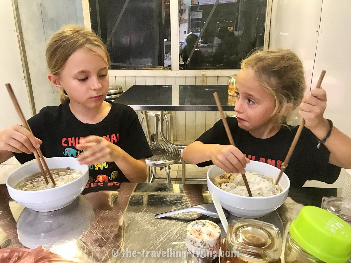 girls eating Pho Soup