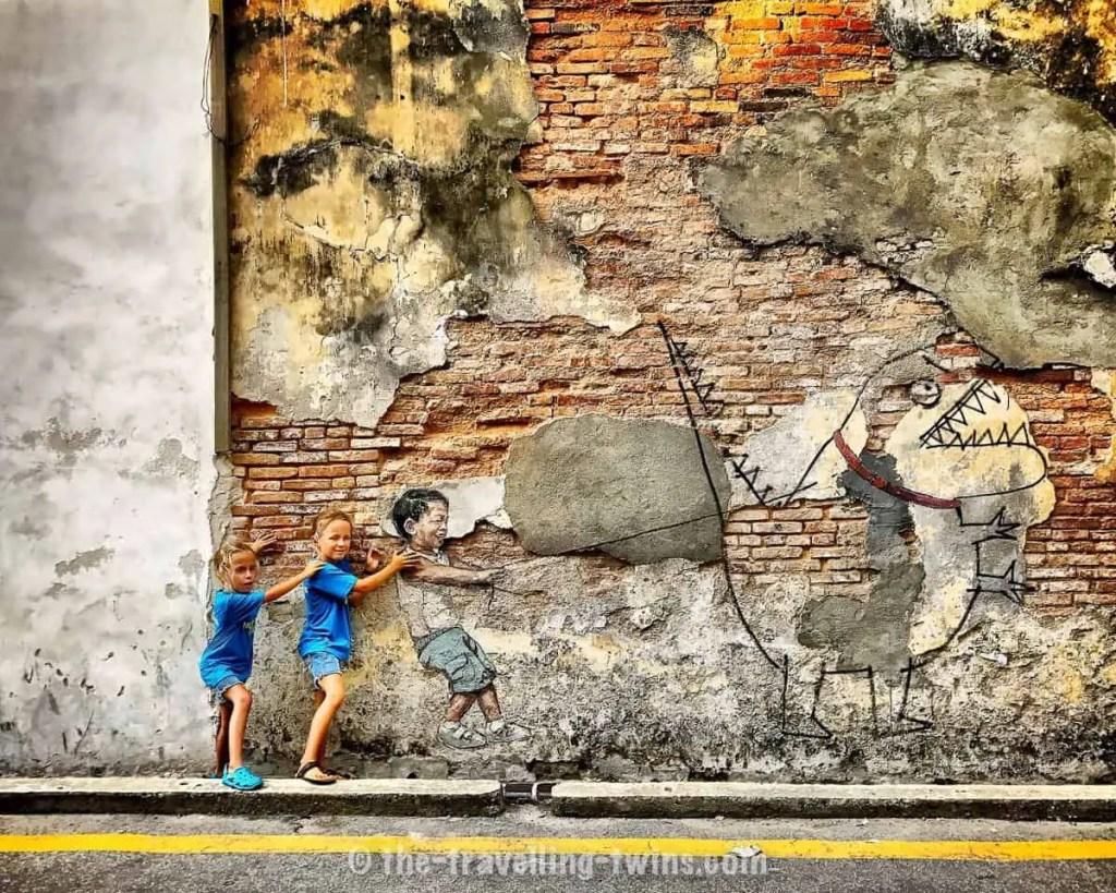 street art georgetown,  cat penang,  sunshine penang,  taman rama rama penang,  uob penang