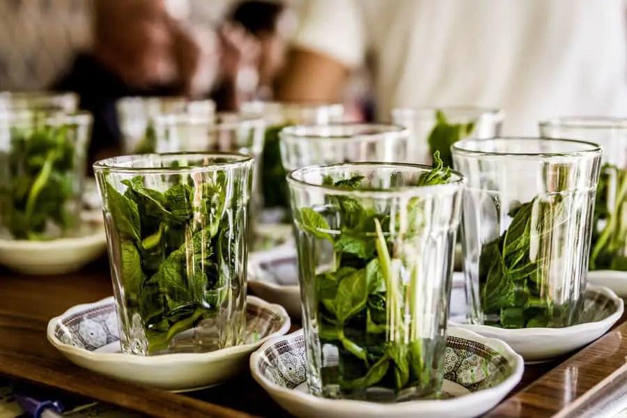 moroccan spices mint, fresh mint tea