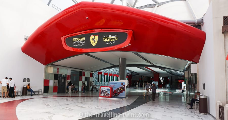 kids abu dhabi ferrari world one of the theme parks on yas island Abu Dhabi Ferrari Theme Park - best thing in Abu Dhabi - best things for Abu dhabi kids