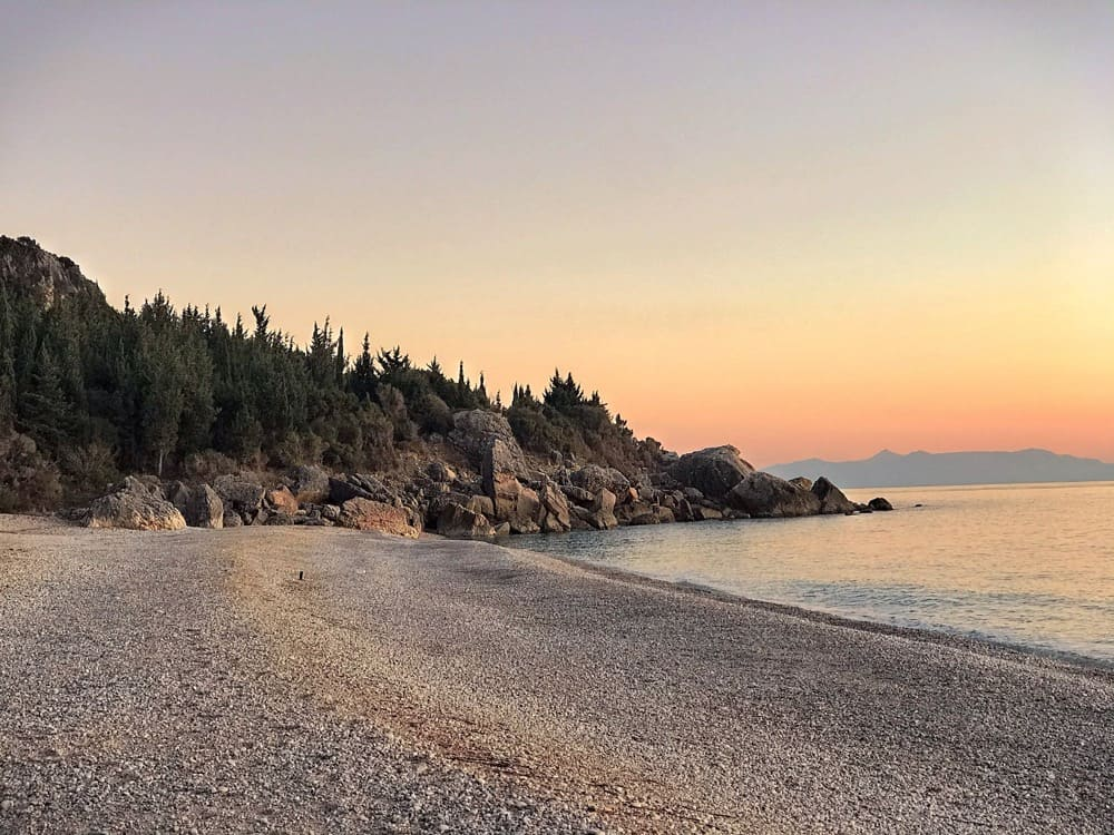 Albanian riviera is a perfect location camping