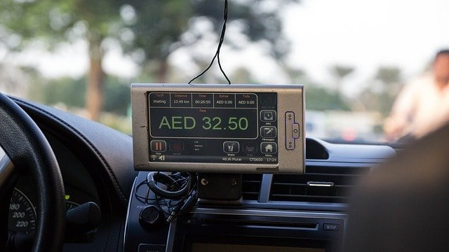 Dubai Taxi - meter