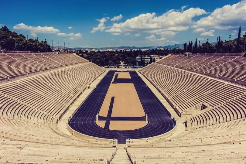 ancient olympic stadium in capitols Athens
