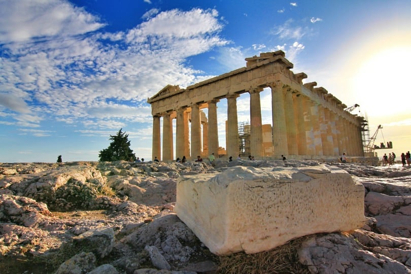 Parthenon in capital Athens - the most popular tourist site