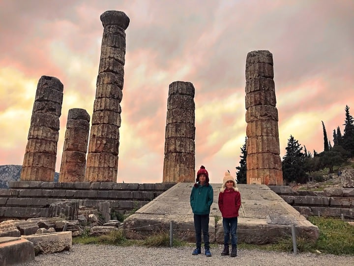 greece facts - Delphi  ancient greece one of the oldest temples, Greece